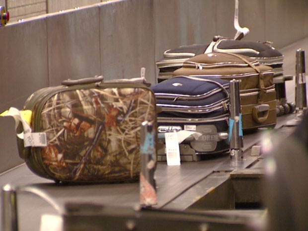 Problemas com malas aumentam nas férias  (Foto: Reprodução EPTV)