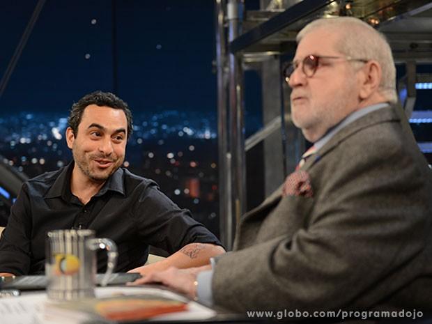 Pedro Asbeg participa do Programa do Jô desta terça-feira (Foto: TV Globo/Programa do Jô)