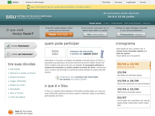 Sisu do meio do ano abre inscrições para 55,6 mil vagas http://www.cantinhojutavares.com