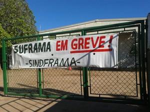 Segundo grevista, apenas 30% da categoria continua fiscalizando mercadorias durante o período de greve (Foto: Arquivo pessoal)