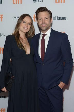 Olivia Wilde e Jason Sudeikis em festival de cinema em Toronto, no Canadá (Foto: Matt Winkelmeyer/ Getty Images/ AFP)