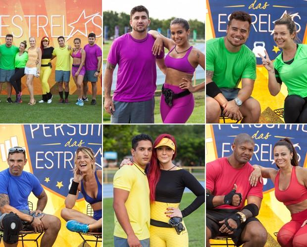 Famosas se reúnem com seus personal trainers para competição no Estrelas (Foto: Fabiano Battaglin/Gshow)