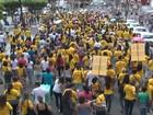 Professores protestam contra reforma da Previdência em Feira de Santana