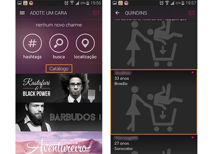 Confira o catálogo de estilos no app AdoteUmCara e escolha um deles (Foto: Reprodução/Barbara Mannara)