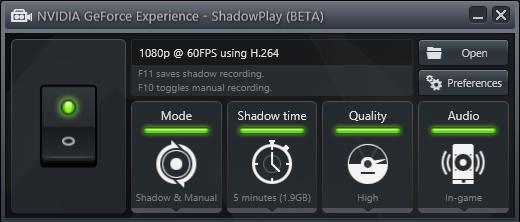 Janela do Shadowplay (Foto: Reprodução/Tom's Hardware)