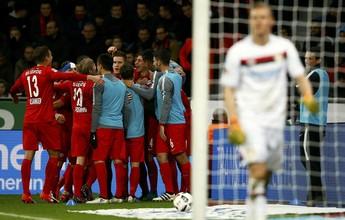 RB Leipzig passa pelo Leverkusen e vence a sexta consecutiva no Alemão