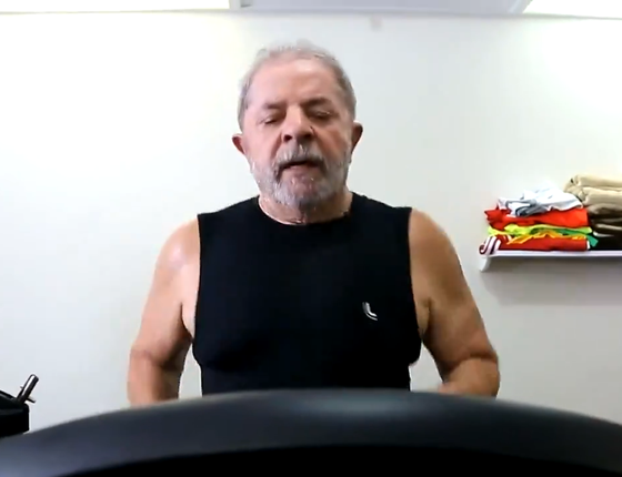 Lula correndo na esteira (Foto: Reprodução)