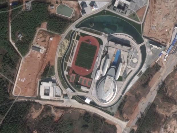 Edifício lembra Enterprise (Foto: Reprodução/Google Maps)