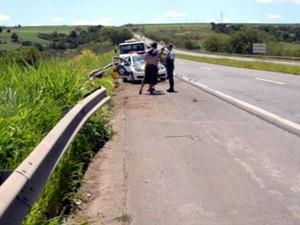 Acidente na rodovia Luiz de Queiroz, entre Piracicaba e Santa Bárbara  (Foto: Thomaz Fernandes/G1)