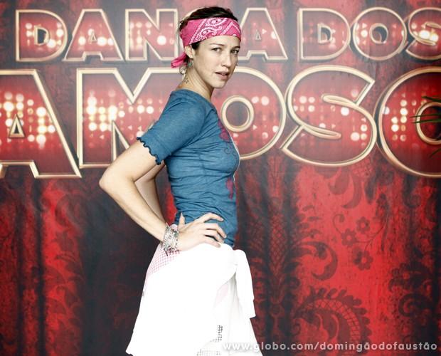 A atriz vem arrasando no Dança dos Famosos (Foto: Domingão do Faustão / TV Globo)