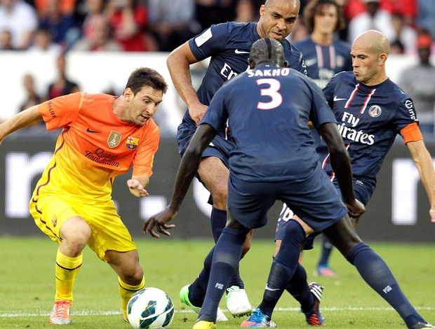 Messi na partida do Barcelona contra o PSG (Foto: Reuters)