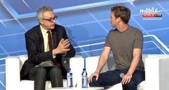 Zuckerberg não perdeu a esportiva nem quando perguntado sobre o Snapchat (Foto: Reprodução / MWC)