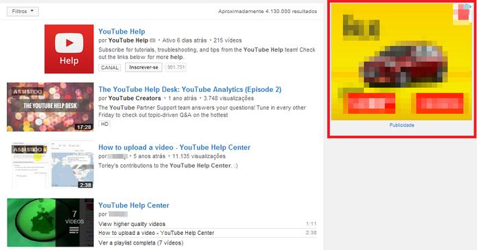 YouTube é mais invadido por banners e propagandas do que seu concorrente, o Vimeo (Foto: Reprodução/Paulo Finotti)