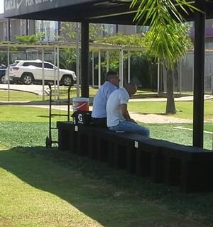 Gobbi no CT Corinthians (Foto: Fabrício Crepaldi/GloboEsporte.com)