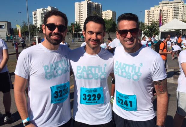 Clientes e marketing da Inter TV participam da corrida Partiu Globo (Foto: Divulgação/ Inter TV)