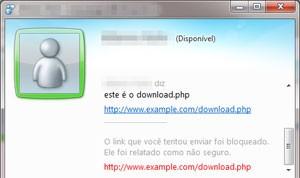 Bloqueio de download.php no Messenger (Foto: Reprodução)