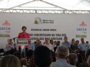 Dilma anuncia investimentos para a Paraíba durante visita à João Pessoa  (Foto: Jhonathan Oliveira/G1)
