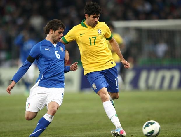 Diego Costa, Brasil x Italia (Foto: Mowa Press)