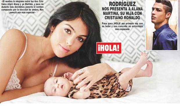 Alana Martina, filha de Georgina Rodriguez e CR7 (Foto: Divulgação/Reprodução)