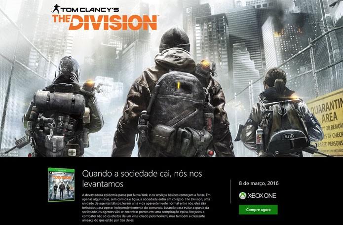 Página do jogo na Xbox Store (Foto: Reprodução/André Mello)