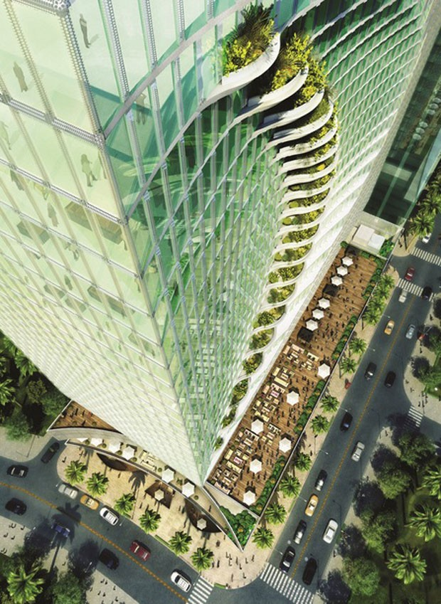 Em formato de onda, prédio comercial é inaugurado nas Filipinas (Foto: Frank Callaghan, Courtesy CAZA Architects/Divulgação)