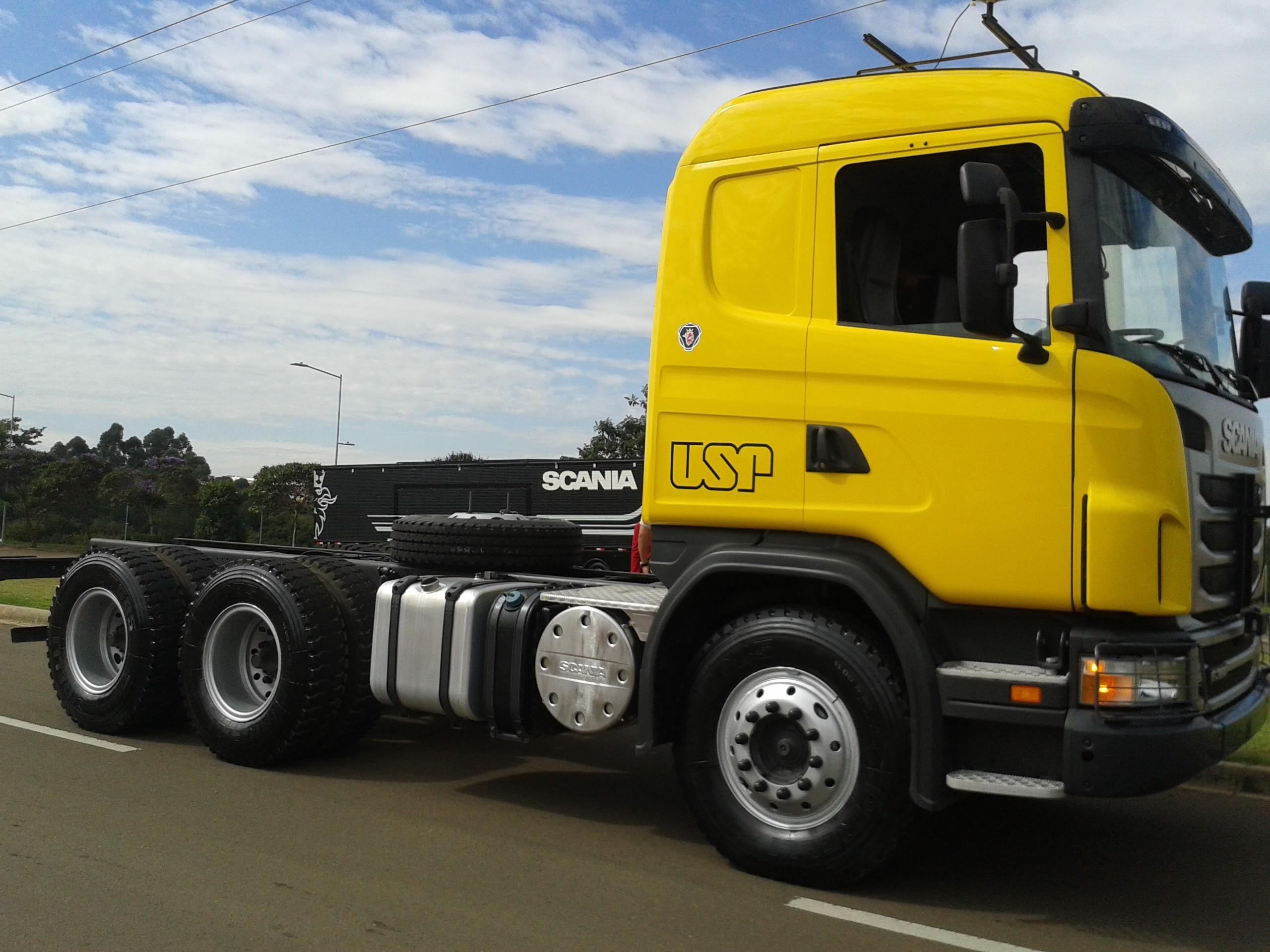 Após dois anos de desenvolvimento, Scania e pesquisadores da USP de São Carlos desenvolveram o protótipo do caminhão autônomo (Foto: Isabela Moreira)
