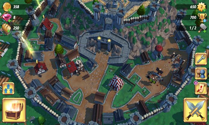 Royal Revolt 2 é a continuação do famoso game medieval para Windows Phone (Foto: Divulgação/Windows Phone Store)