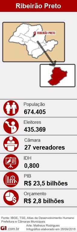 Perfil de Ribeirão Preto (SP) nas eleições 2016 (Foto: Arte/G1)