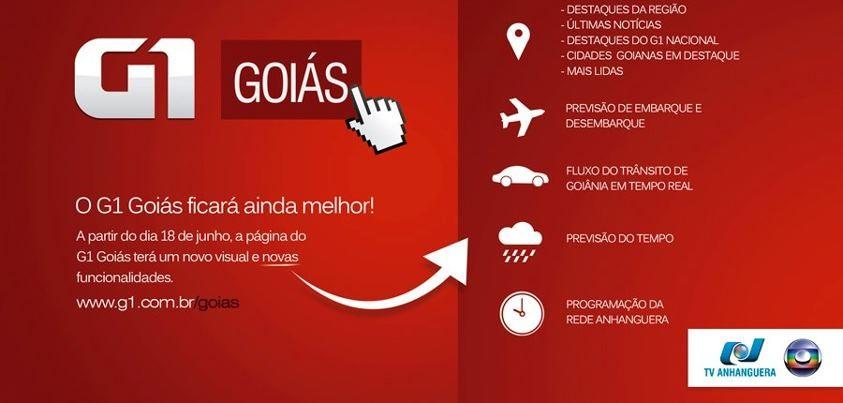 G1 Goiás de cara nova (Foto: divulgação)