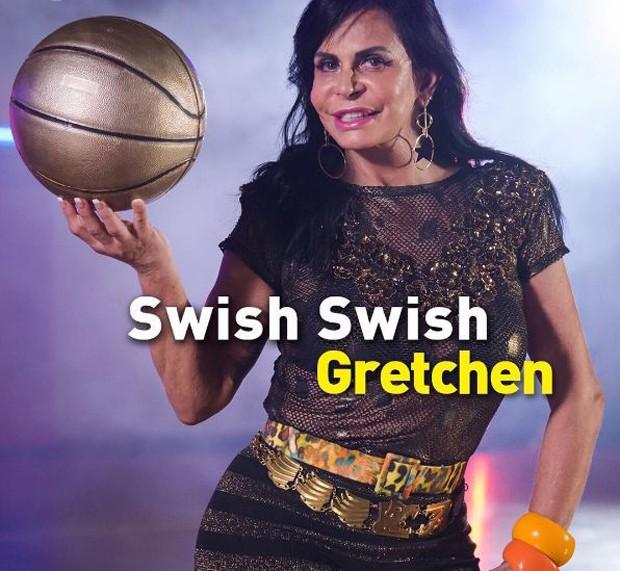 Gretchen no clipe de Swish Swish de Katy Perry (Foto: Reprodução/Instagram)