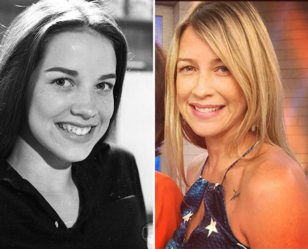 Antes e depois de Luana Piovani: Em Sex Appeal e nos dias de hoje (Foto: CEDOC / TV Globo / Arquivo Pessoal)