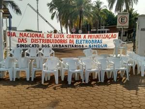 95 % dos tarbalhadores aderiram ao movimento em todo o estado de Rondônia (Foto: Hosana Morais/G1)