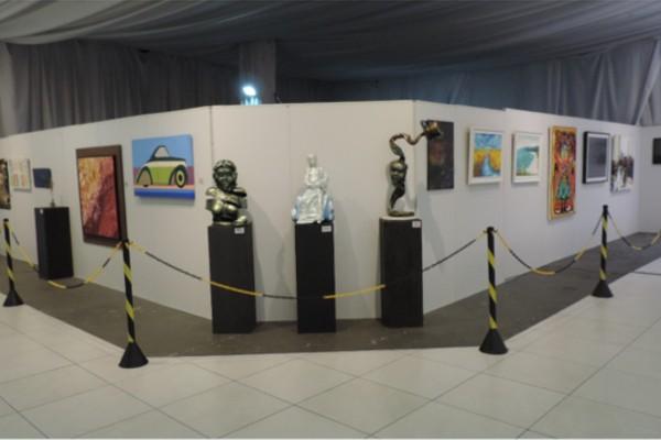 Obras selecionadas da 15ª Galeria Rio Sul (Foto: TV Rio Sul)