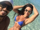 Gracyanne Barbosa exibe abdômen trincado em foto de biquíni