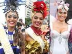 Fantasiadas, famosas roubam a cena no Bloco da Favorita, no Rio