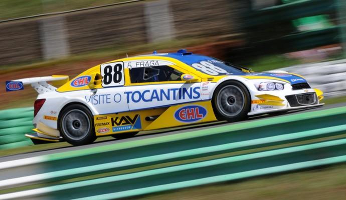 Com apenas 18 anos, Felipe Fraga conquistou sua primeira pole na Stock Car (Foto: Fernanda Freixosa / Divulgação)