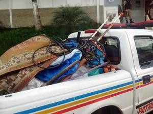 Material foi recuperado pela PM (Foto: PM/Divulgação)