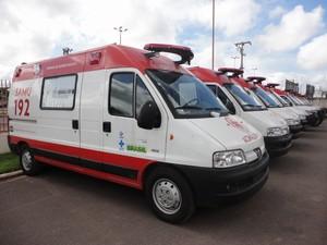 As ambulâncias serão entregues aos municípios após autorização ministerial (Foto: Sesau/Divulgação)
