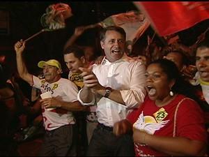 Luciano Rezende comemora eleição em Vitória (Foto: Reprodução / TV Gazeta)