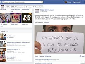 Jovem jornalista não pretende voltar ao Brasil após decepção (Foto: Facebook/Reprodução)