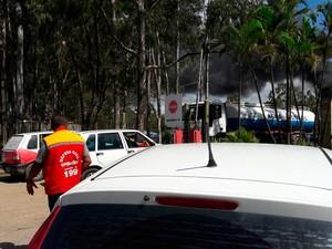 Incêndio na Cetrel, em Camaçari, Bahia (Foto: Ivanaldo Soares/ Defesa Civil)