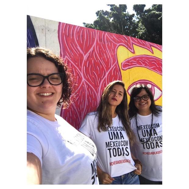 Também no Projac, Jessica Goulart levantou mais nomes para a campanha (Foto: Reprodução/Instagram)