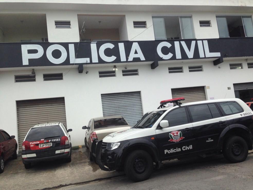 Delegacia de Itanhaém, onde o caso é investigado em conjunto com o MP (Foto: Guilherme Lucio da Rocha/G1)