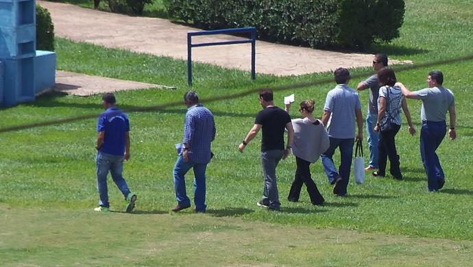 Visita da comitiva de Honduras ao Prudentão (Foto: Clayton Santos / Globoesporte.com)