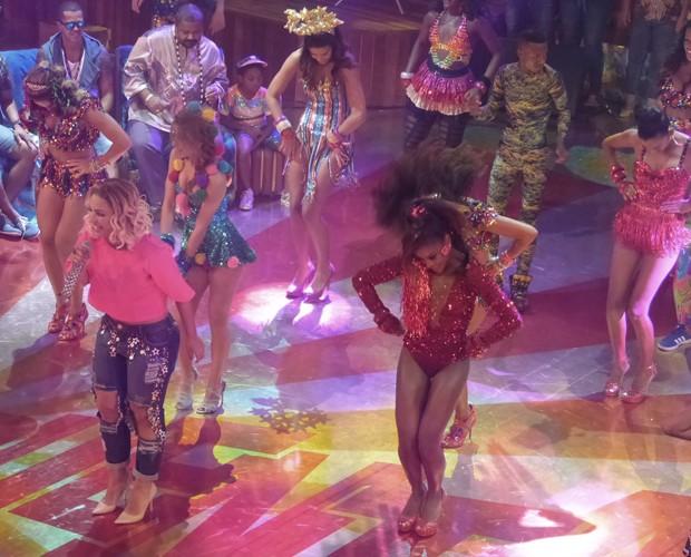 Valesca deu show no palco do Esquenta! (Foto: Gabi Freitas/Gshow)