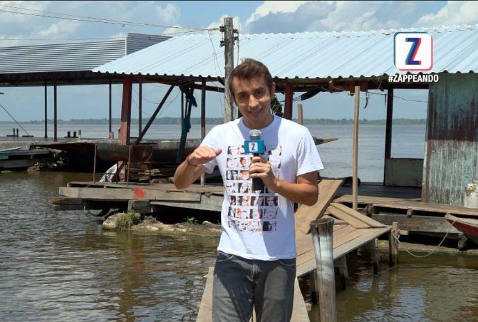 Moacyr Massulo visita comunidade ribeirinha (Foto: Zappeando)