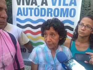 Moradora Maria da Penha teve casa demolida (Foto: Cristina Boeckel/G1)