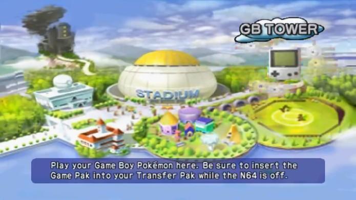Pokémon Stadium permitia transferir os pokémons do Game Boy para o Nintendo 64 (Reprodução/YouTube)