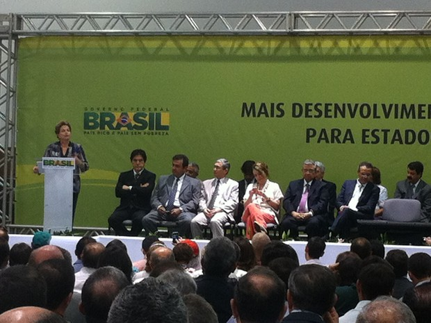 Visita Dilma Rousseff - Natal (Foto: Fernanda Zauli/G1)