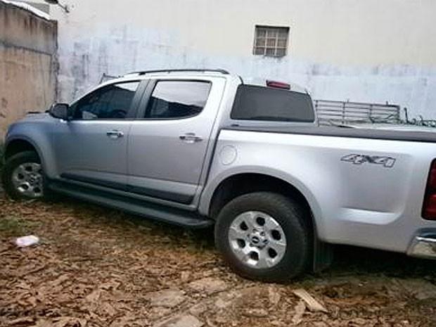 Carro modelo Picape pertencia ao casal de Luís Eduardo Magalhães. (Foto: Divulgação/ Polícia Civil)